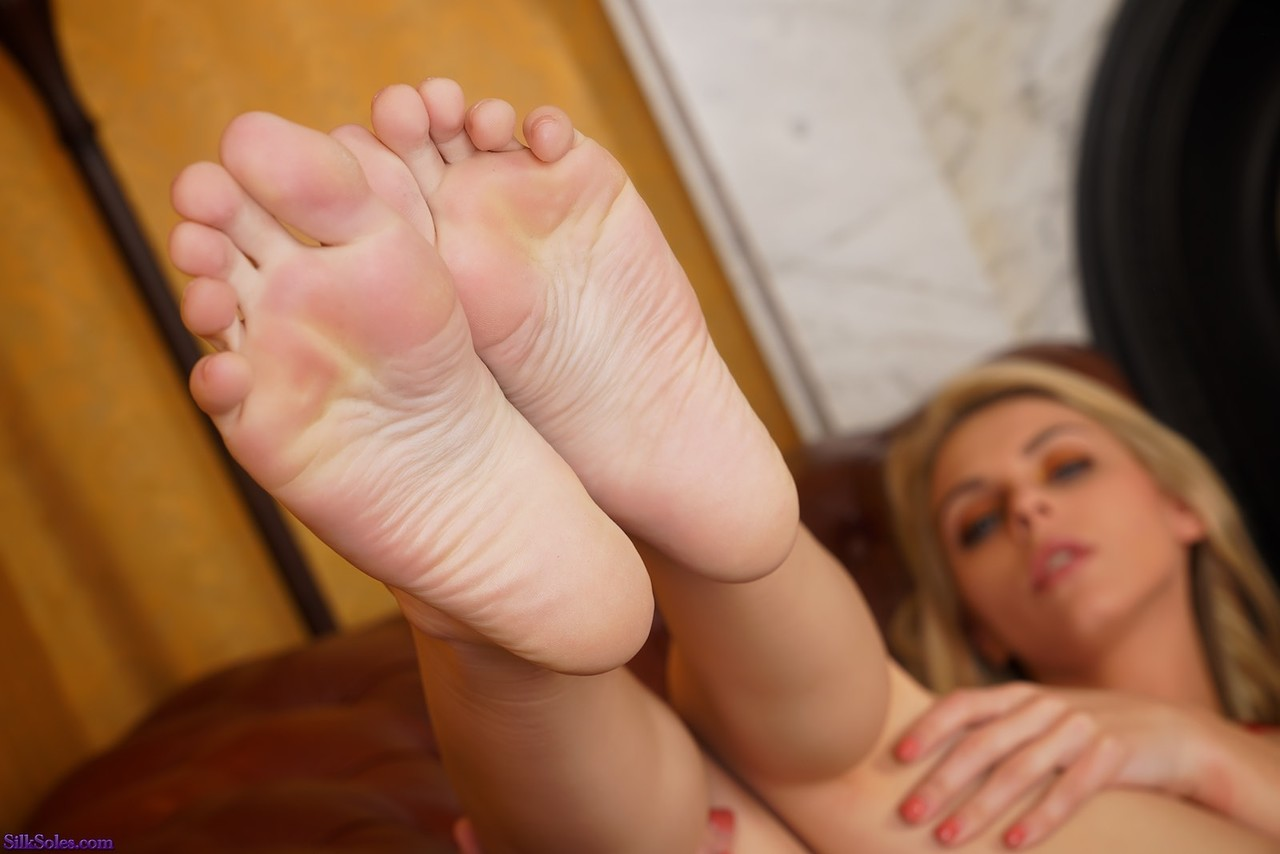 bare foot silk soles foot fetish